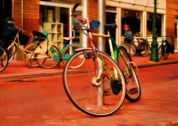 Bicycle in many colors