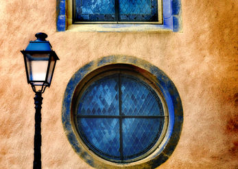 A lamp and a window