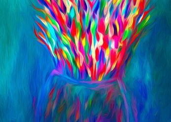 A colorful bang